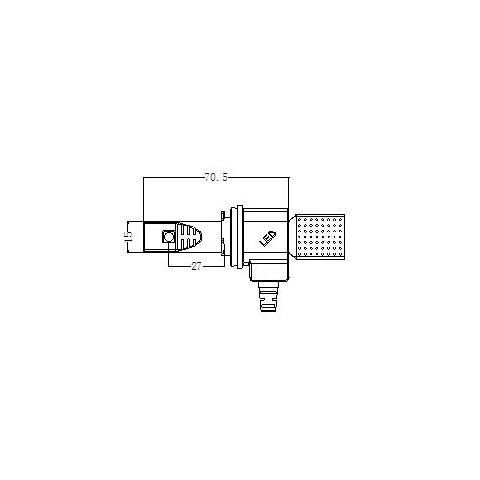 Набор светодиодного головного света UP-5HL-H11W-CR-2500Lm (H11, 3000 лм, холодный белый) Превью 4