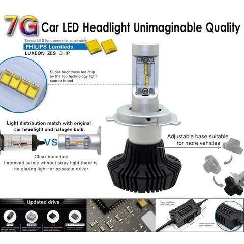 Набор светодиодного головного света UP-7HL-H16W-4000Lm (H16, 4000 лм, холодный белый) Превью 2