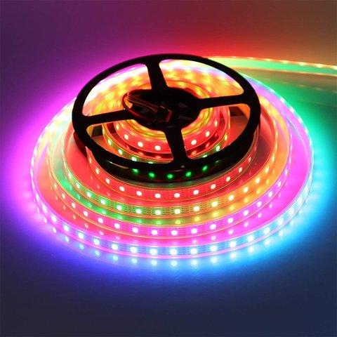 Світлодіодна стрічка RGB SMD5050, WS2815 (чорна, з управлінням, IP20, 12 В, 60 діодів/м, 5 м) Прев'ю 3